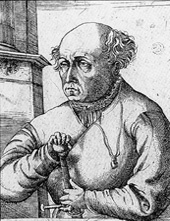 "Paracelsus (1493-1543) / ""The Earth is its Nurse"" by Michael Maier"